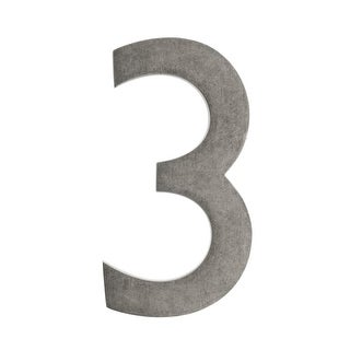 Architectural Mailboxes 3585-3 5 Inch Solid Cast Hand Finished Brass House Numbers