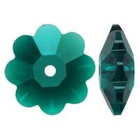 Swarovski Crystal, 3700 Flower Margarita Beads 8mm, 12 Pieces, Emerald