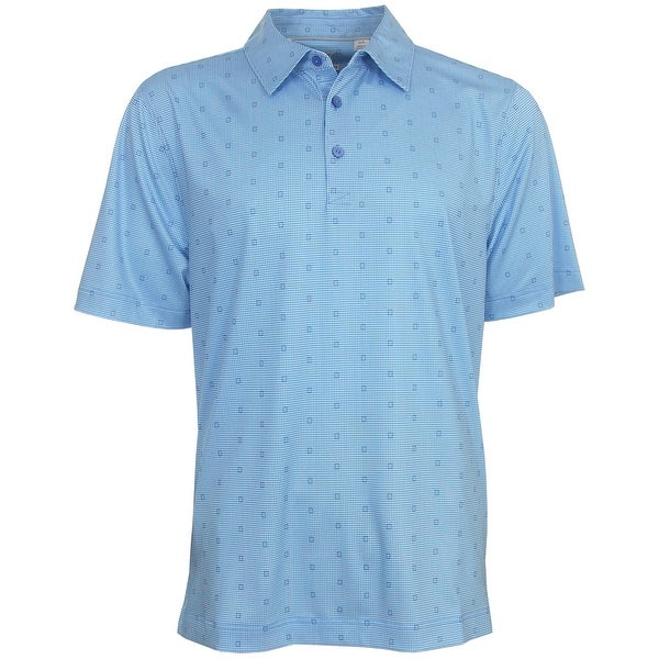 Cutter & Buck Men's Dobby Gingham Print Polo Golf Shirt, Brand NEW