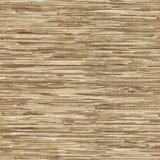 Brewster 412-44139 Lepeka Brown Grasscloth Wallpaper