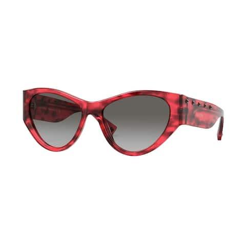 Valentino VA4071 502011 55 Red Havana Woman Irregular Sunglasses - Tortoise