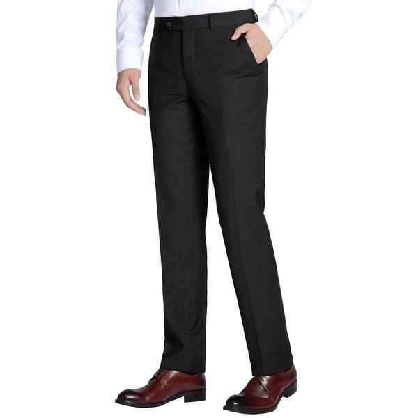 Men's Classic fit Performance Flat Front Suit Separate Dress Pants. Opens flyout.