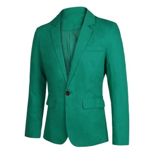 Link to Men Slim Fit Notched Lapel Single Button Closure Casual Blazer Similar Items in Sportcoats & Blazers