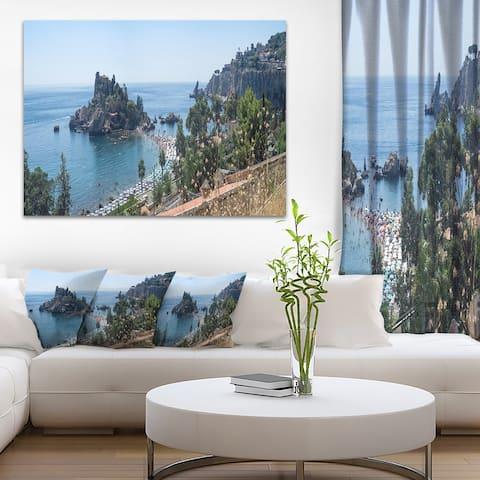 Designart 'Taormina Island Panoramic View' Landscape Photo Canvas Print