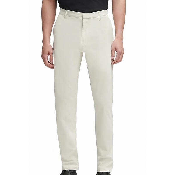 DKNY Mens Chino Pants Stone Beige Size 38x32 Bedford Straight Slim-Fit. Opens flyout.