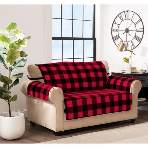 Innovative Textile Solutions Franklin Buffalo Check Loveseat Furniture Cover