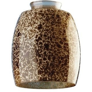 Westinghouse 8131000 Handblown Giraffe Spot Glass Shade, 2-1/4""