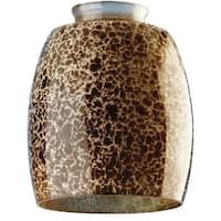"Westinghouse 8131000 Handblown Giraffe Spot Glass Shade, 2-1/4"""