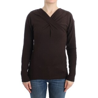 Cavalli Brown knitted wool sweater