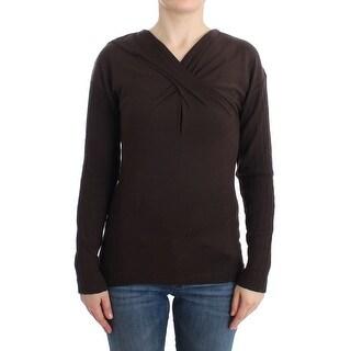 Cavalli Cavalli Brown knitted wool sweater