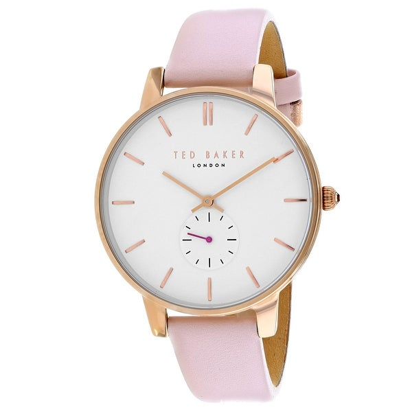 82f54a4fa Shop Ted Baker Women s Classic TE50660002 White Dial watch - Free Shipping  Today - Overstock - 24226067
