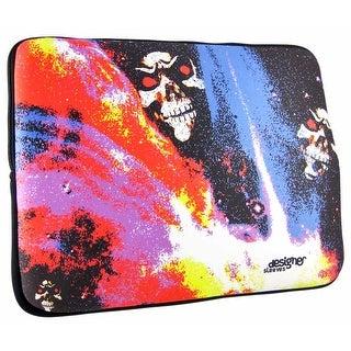 Designer Sleeves Neon Skulls 15.4 Inch Laptop Case