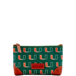 Dooney & Bourke NCAA Miami Cosmetic Case (Introduced by Dooney & Bourke at $48 in Dec 2015) - Green