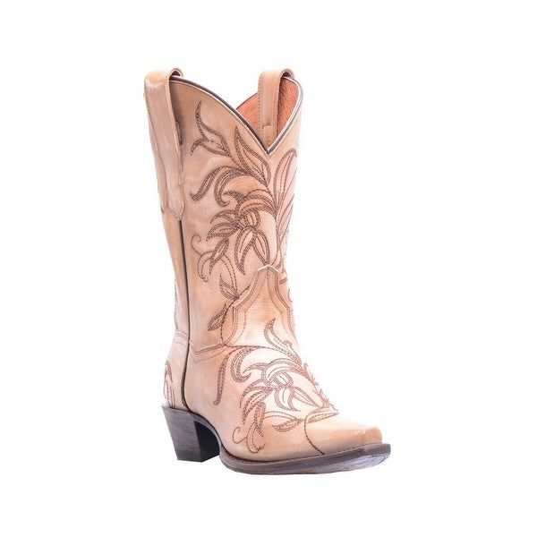 Dan Post Western Boots Womens Snip Leather Nora Bone