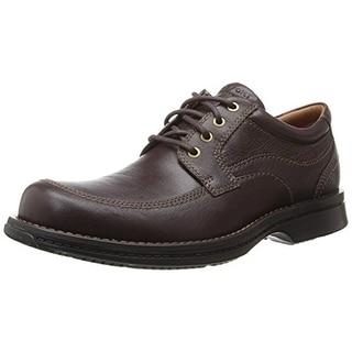 Rockport Mens Leather Moc Toe Oxfords