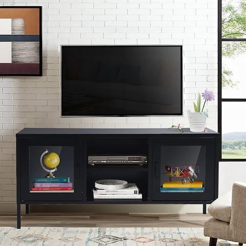 Copper Grove Ronague Metal TV Console