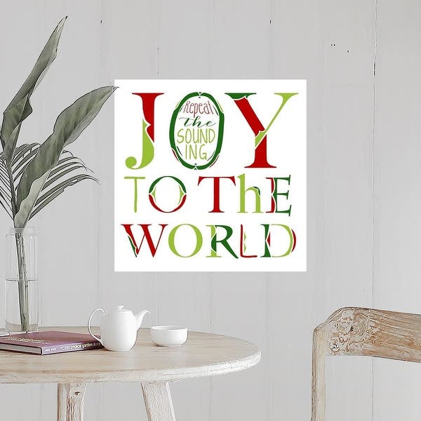 Joy To The World On White Poster Print Overstock 26974876