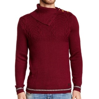 Diesel NEW Mahogany Red Mens Size Large L K-Makana Turtleneck Sweater