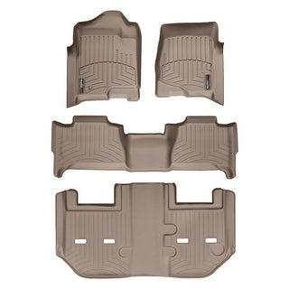 WeatherTech Cadillac Escalade ESV 2011 Bucket Tan Floor Mats FloorLiner - All Rows 45066-1-6-452354
