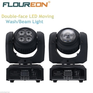 40W+10W RGBW LED Moving Double Head Beam/Wash Party Show Stage Lighting DMX512 - Black