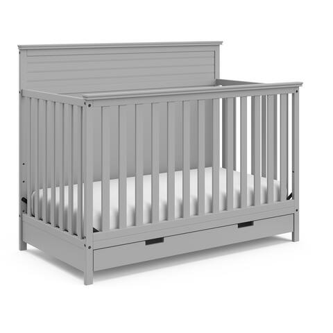 Taylor & Olive Noisette 4-in-1 Convertible Crib with Storage Drawer - Full-Size Storage Drawer, JPMA Certified, 1-Year Warranty