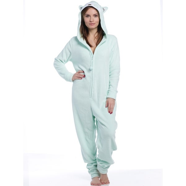 Shop PJ Couture Women s All In One Plush Fun Owl Hooded One-Piece - Free  Shipping On Orders Over  45 - Overstock - 25727786 a7464bc61