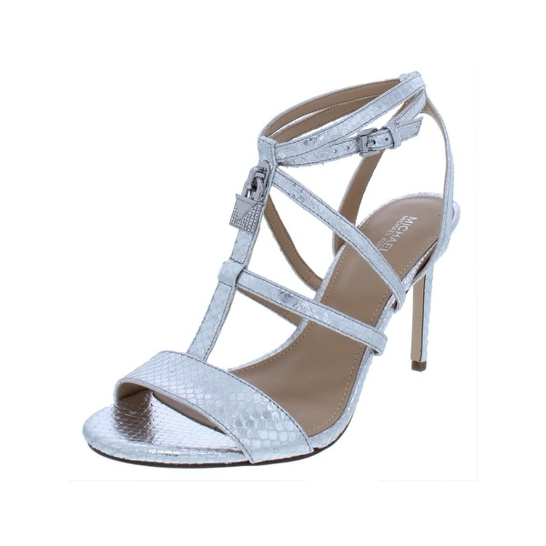 e14d775e92 MICHAEL Michael Kors Womens Antoinette Evening Sandals Leather Snake  Embossed
