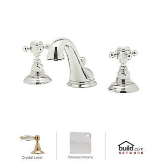 Rohl A1408LC-2 Country Bath Widespread Bathroom Faucet with Pop-Up Drain and Swarovski Crystal Lever Handles