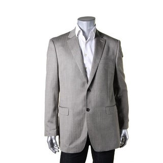 Lauren Ralph Lauren Mens Two-Button Suit Jacket Herringbone Slim Fit