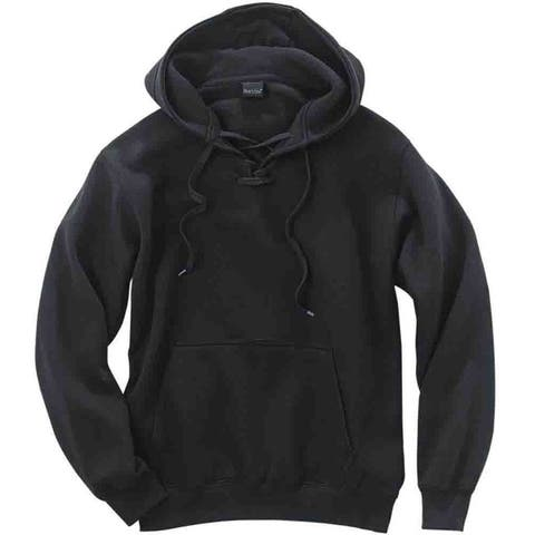 River's End Lace-Up Hoodie Mens Athletic Sweatshirt - Black
