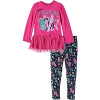 Bentex Girls 2T-4T My Little Pony Tulle Legging Set - FUCHSIA