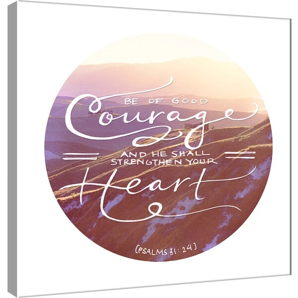 """PTM Images 9-101219 PTM Canvas Collection 12"""" x 12"""" - """"Be of Good Courage"""" Giclee Mountains Art Print on Canvas"""