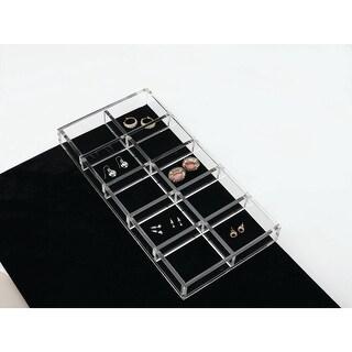 Rev-A-Shelf CA-LGORG-1 CA Series 11.625 x 6 Inch Clear Acrylic Jewelry Organizer