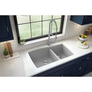 Karran Undermount Quartz 60/40 Double Bowl Kitchen Sink