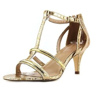 Style & Co Hughley Women Open Toe Synthetic Gold Sandals