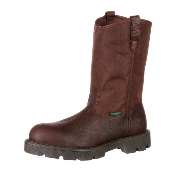 "Georgia Boot Work Men 11"" Homeland ST Waterproof Wellington Brown"