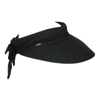Scala Women's Cotton 4 Inch Brim Facesaver Visor Hat