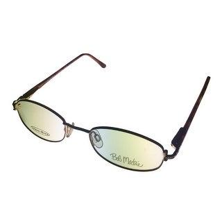 Bob Mackie Womens Eyeglass Opthamlic Oval Gold Metal #131 Gold Brown - Medium