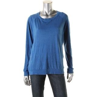 Nation LTD Womens Skyd Raglan Sweatshirt Pullover Crew Neck Sweatshirt - S