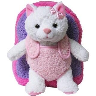 Kreative Kids Girls Hot Pink Kitty Cat Plush Cute Stylish Animal Backpack