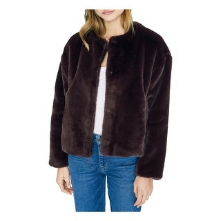 Link to SANCTUARY Womens Purple Faux Fur Coat  Size L Similar Items in Women's Outerwear