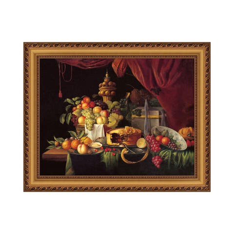 Premius Fruit And Cake Still Life Wall Art, 24x30 Inches - Multi-Color - 24x30 Inches