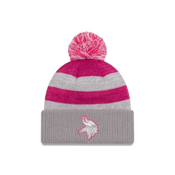 Shop New Era 2016 Minnesota Vikings Breast Cancer Awareness Women S Cuffed Knit  Hat - Free Shipping On Orders Over  45 - Overstock - 18680737 dd7e1be45