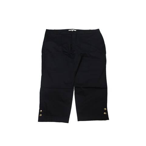 Rachel Rachel Roy Plus Size Black Cropped Pants 14W