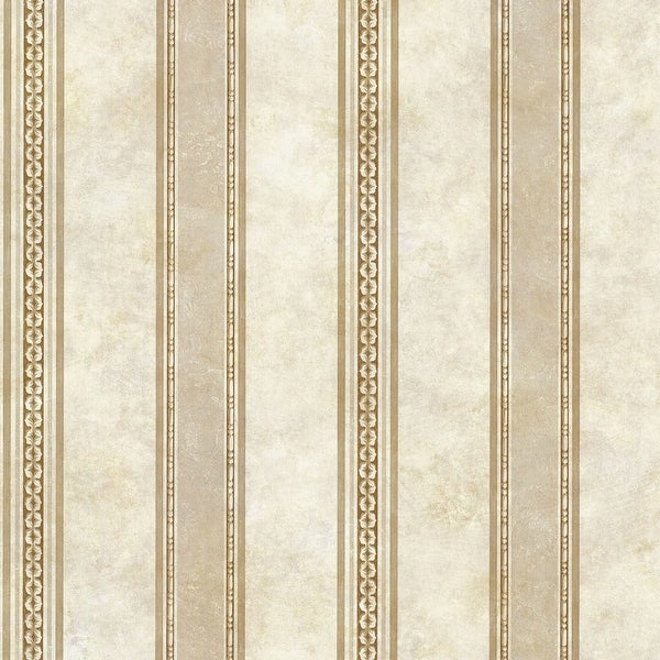 "Brewster SRC76199-SAM 8""x 10"" Sample of SRC76199 - Beige Tuscan Stripe"