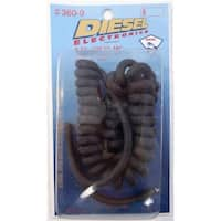 Barjan 3609 Deisel - 8 ft. Coiled 6 Wire Replacement Microphone Cord