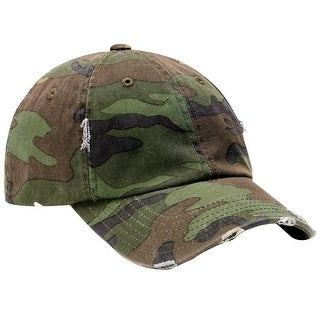 District Threads Distressed Cap, Camouflage DT600