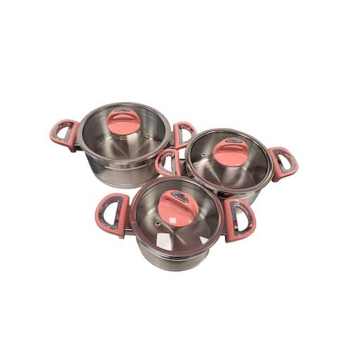 SavaHome Ruya Stainless Steel Cookware Set, 3 pcs