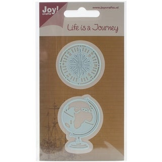 "Joy! Crafts Cut & Emboss Die-Globe & Compass, 1.37""X1.88"""