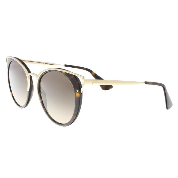 d55bf506e48 Shop Prada PR66TS 2AU3D0 Havana Cat eye Sunglasses - 54-20-145 - On ...